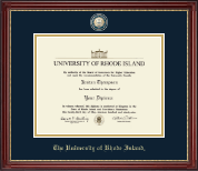 The University of Rhode Island Diploma Frame - Masterpiece Medallion Diploma Frame in Kensington Gold