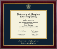 University of Maryland University College Diploma Frame - Gold Embossed Diploma Frame in Gallery