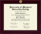 University of Maryland University College Diploma Frame - Century Gold Engraved Diploma Frame in Cordova