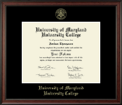University of Maryland University College Diploma Frame - Gold Embossed Diploma Frame in Studio