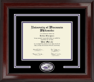 University of Wisconsin Whitewater Diploma Frame - Spirit Medallion Diploma Frame in Encore