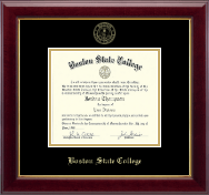 Boston State College Diploma Frame - Gold Embossed Diploma Frame in Gallery