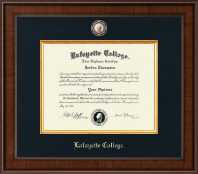 Lafayette College Diploma Frame - Presidential Masterpiece Diploma Frame in Madison