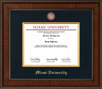 Miami University Diploma Frame - Presidential Brass Masterpiece Diploma Frame in Madison