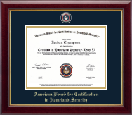 American Board for Certification in Homeland Security Certificate Frame - Masterpiece Medallion Certificate Frame in Gallery