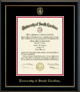 University of South Carolina Diploma Frame - Gold Embossed Diploma Frame in Onyx Gold
