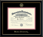 Boston University Diploma Frame - Gold Embossed Diploma Frame in Onyx Gold