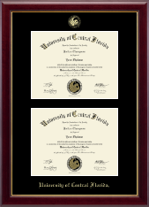 University of Central Florida Diploma Frame - Double Document Diploma Frame in Gallery