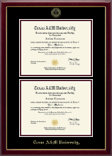 Texas A&M University Diploma Frame - Double Document Diploma Frame in Gallery