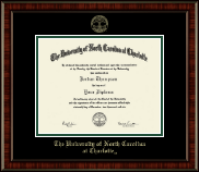 The University of North Carolina Charlotte Diploma Frame - Gold Embossed Diploma Frame in Ridgewood