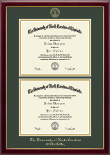 The University of North Carolina Charlotte Diploma Frame - Double Document Diploma Frame in Gallery