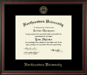 Northeastern University Diploma Frame - Gold Embossed Diploma Frame in Studio