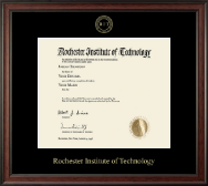 Rochester Institute of Technology Diploma Frame - Gold Embossed Diploma Frame in Studio