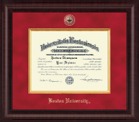 Boston University Diploma Frame - Presidential Masterpiece Diploma Frame in Premier