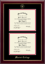 Marist College Diploma Frame - Double Document Diploma Frame in Gallery