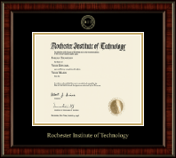 Rochester Institute of Technology Diploma Frame - Gold Embossed Diploma Frame in Ridgewood