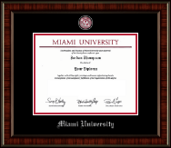 Miami University Diploma Frame - Pewter Masterpiece Medallion Diploma Frame in Ridgewood