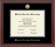 Western Carolina University Diploma Frame - Gold Engraved Medallion Diploma Frame in Signature