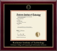 Rochester Institute of Technology Diploma Frame - Gold Embossed Diploma Frame in Gallery