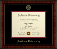 Indiana University - Purdue University at Indianapolis Diploma Frame - Gold Embossed Diploma Frame in Ridgewood