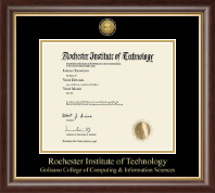 Rochester Institute of Technology Diploma Frame - Gold Engraved Medallion Diploma Frame in Hampshire