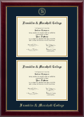 Franklin & Marshall College Diploma Frame - Double Diploma Frame in Gallery