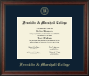 Franklin & Marshall College Diploma Frame - Gold Embossed Diploma Frame in Studio