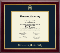 Brandeis University Diploma Frame - Gold Embossed Diploma Frame in Gallery