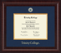 Trinity College Diploma Frame - Presidential Masterpiece Diploma Frame in Premier
