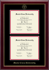 Santa Clara University Diploma Frame - Double Document Diploma Frame in Gallery