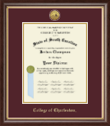 College of Charleston Diploma Frame - Gold Engraved Medallion Diploma Frame in Hampshire