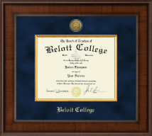 Beloit College Diploma Frame - Presidential Gold Engraved Diploma Frame in Madison