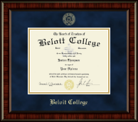Beloit College Diploma Frame - Gold Embossed Diploma Frame in Ridgewood