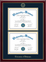 University of Delaware Diploma Frame - Double Document Diploma Frame in Gallery
