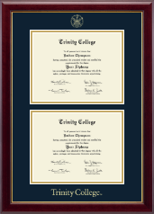 Trinity College Diploma Frame - Double Document Diploma Frame in Gallery
