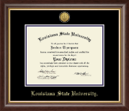 Louisiana State University Diploma Frame - Gold Engraved Medallion Diploma Frame in Hampshire
