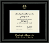 Binghamton University - State of New York Diploma Frame - Gold Embossed Diploma Frame in Noir