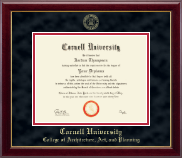Cornell University Diploma Frame - Gold Embossed Diploma Frame in Gallery