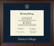 Trinity College Diploma Frame - Gold Embossed Diploma Frame in Studio