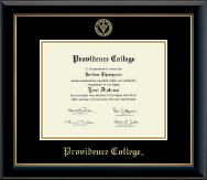 Providence College Diploma Frame - Gold Embossed Diploma Frame in Onyx Gold