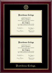 Providence College Diploma Frame - Double Document Diploma Frame in Gallery