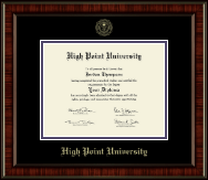 High Point University Diploma Frame - Gold Embossed Diploma Frame in Ridgewood