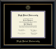 High Point University Diploma Frame - Gold Embossed Diploma Frame in Onyx Gold