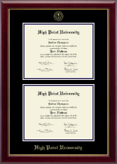 High Point University Diploma Frame - Double Document Diploma Frame in Gallery