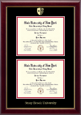Stony Brook University Diploma Frame - Double Document Diploma Frame in Gallery