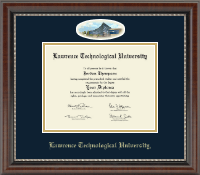Lawrence Technological University Diploma Frame - Campus Cameo Diploma Frame in Chateau