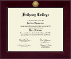 Bethany College in Kansas Diploma Frame - Century Gold Engraved Diploma Frame in Cordova