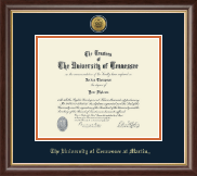 The University of Tennessee Martin Diploma Frame - Gold Engraved Medallion Diploma Frame in Hampshire