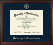University of Massachusetts Lowell Diploma Frame - Gold Embossed Diploma Frame in Studio