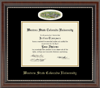 Western State Colorado University Diploma Frame - Campus Cameo Diploma Frame in Chateau